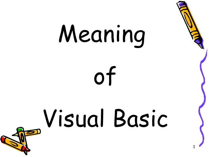 Meaning Of VB