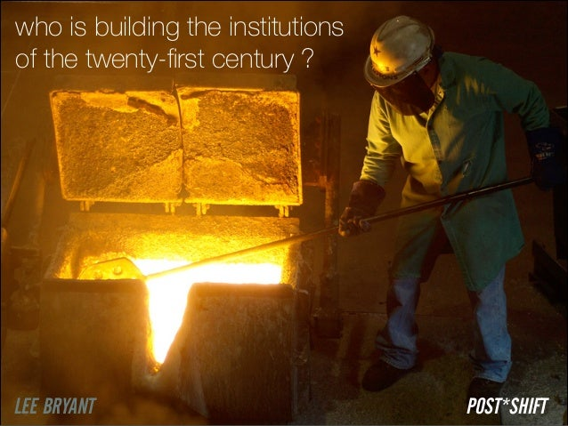 who is building the institutions