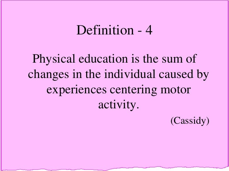 what is physical education definition