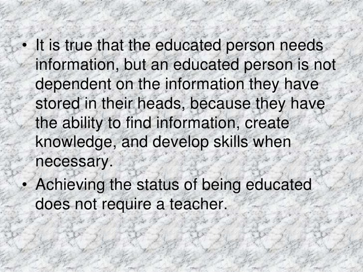 meaning of education Education definition, the act or process of imparting or acquiring general  knowledge, developing the powers of reasoning and judgment, and generally of .
