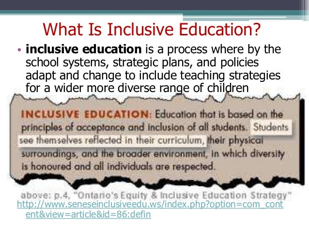definition for inclusive education
