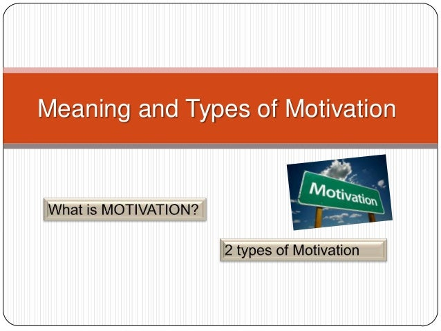 The meaning of motivation in the