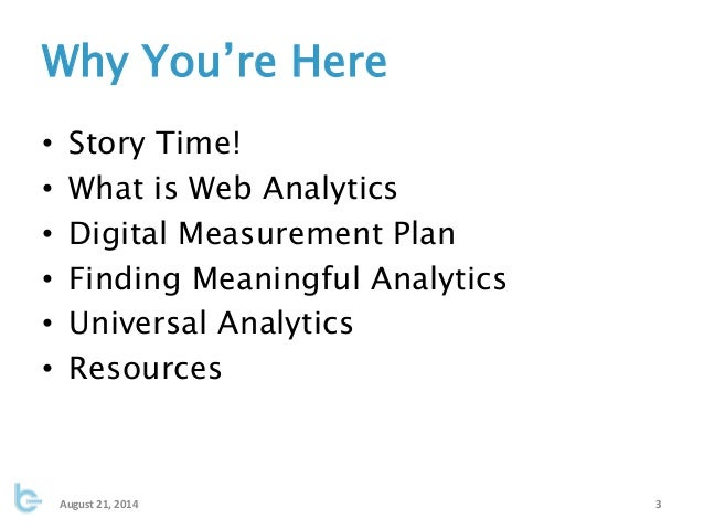 Meaningful Analytics: Finding Data That Matters to You Slide 3