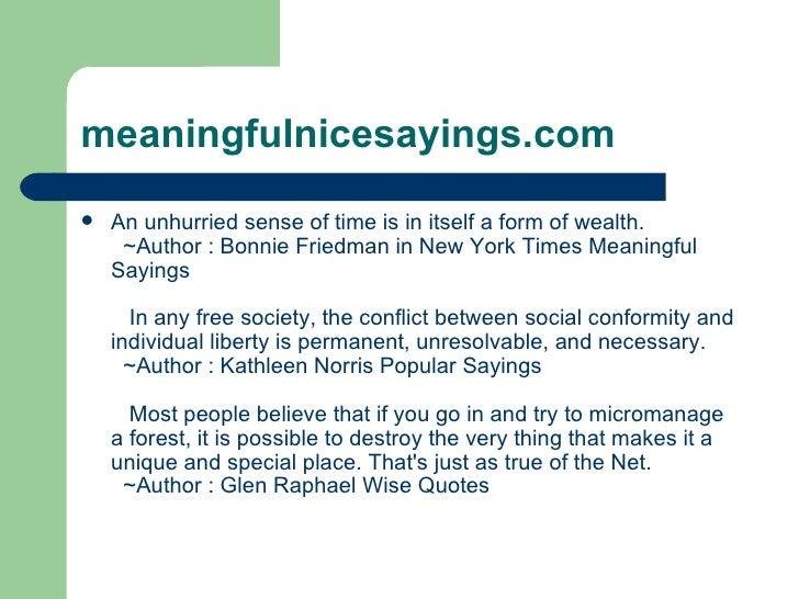 Meaningful nice sayings Slide 3