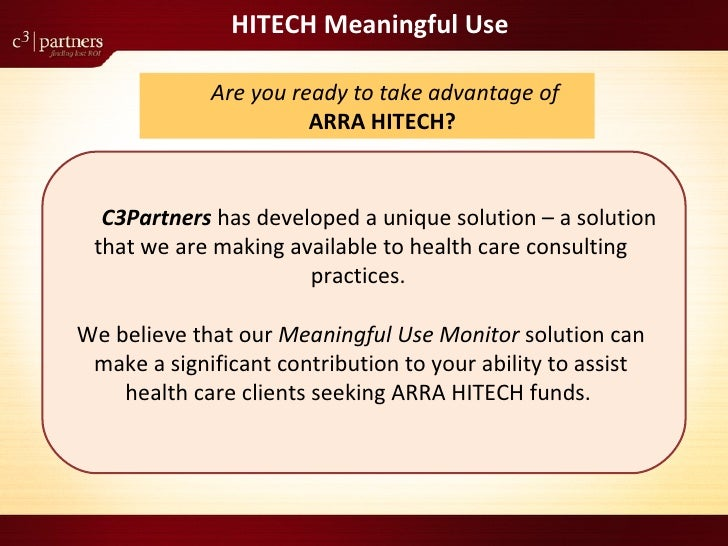 Meaningful Use Monitor For Consulting Firms Slide 2