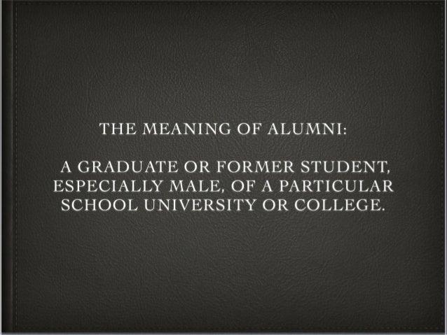Alumni Meaning