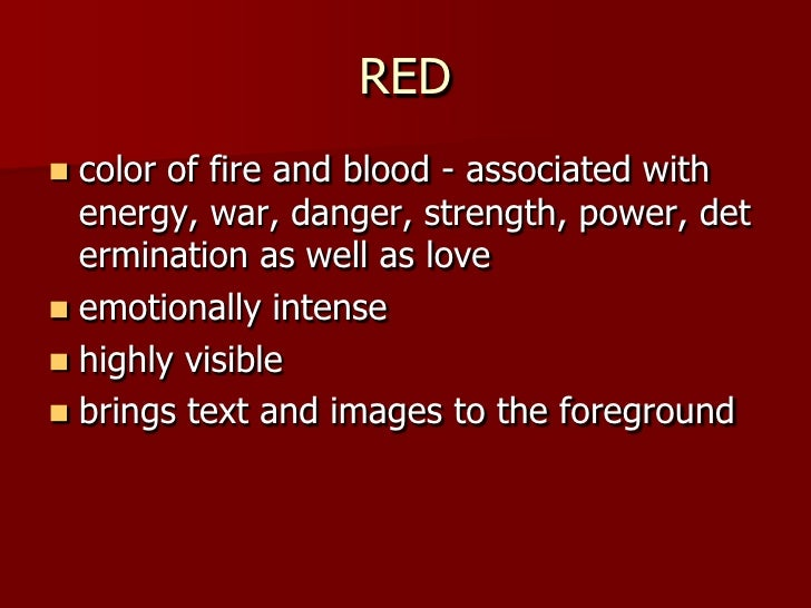 What Does The Color Red Mean what does the color red mean - home design