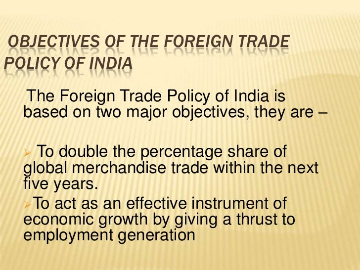 India Exim Policy - Foreign Trade Policy.