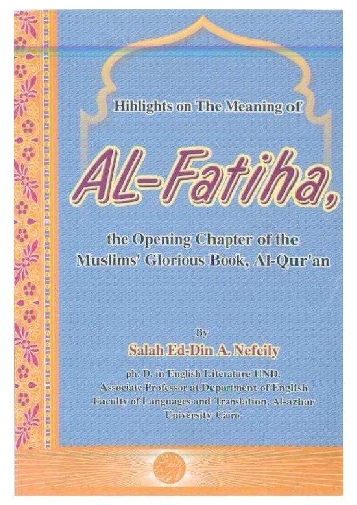 Meaning of Surah al-Fatihah