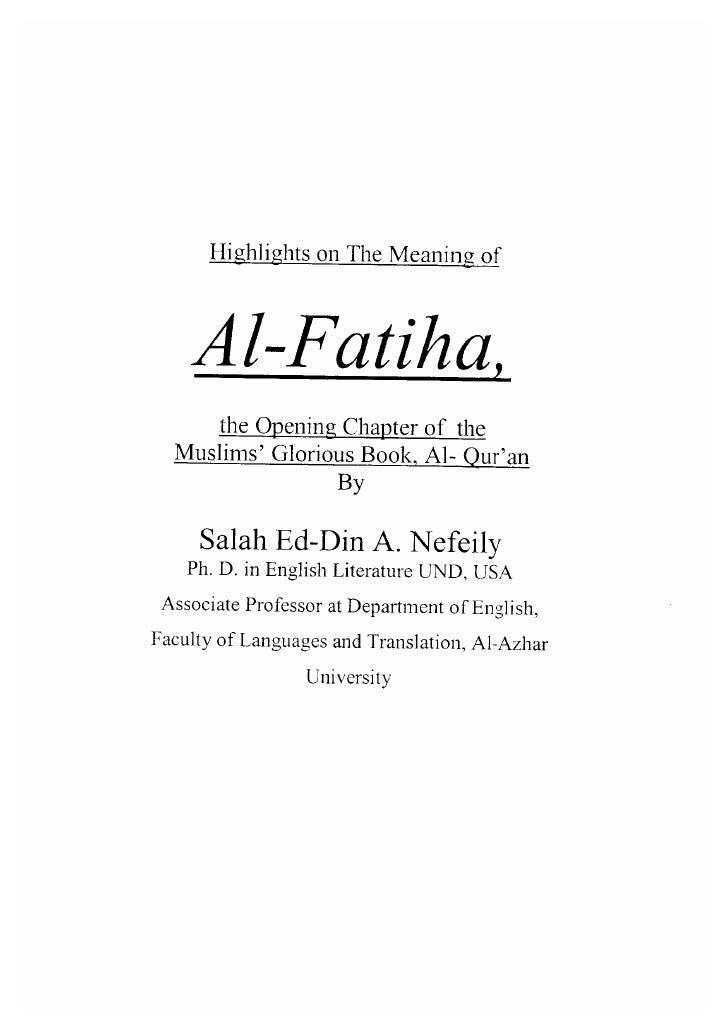 Meaning of Surah al-Fatihah Slide 2