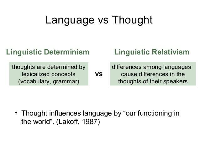 definition - Linguistic determinism