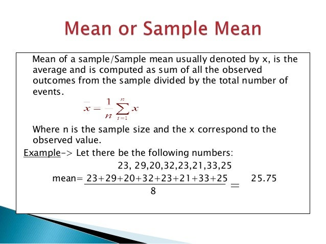 Mean median mode and variance