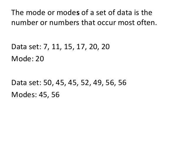 How Do You Find the Mode of a Data Set?