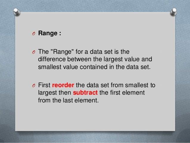 Range, Mode, Median and Mean