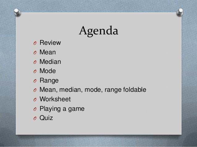 Mean, median, mode, & range ppt Slide 2