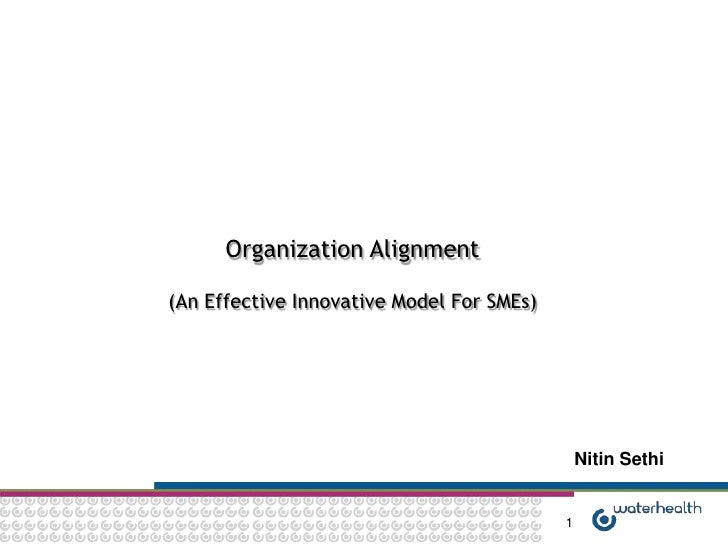 Organization Alignment(An Effective Innovative Model For SMEs)                                               Nitin Sethi  ...