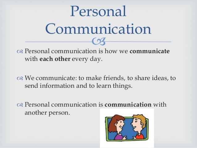 communication means personal
