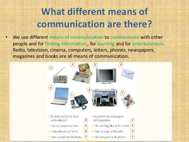essay on different means of communication
