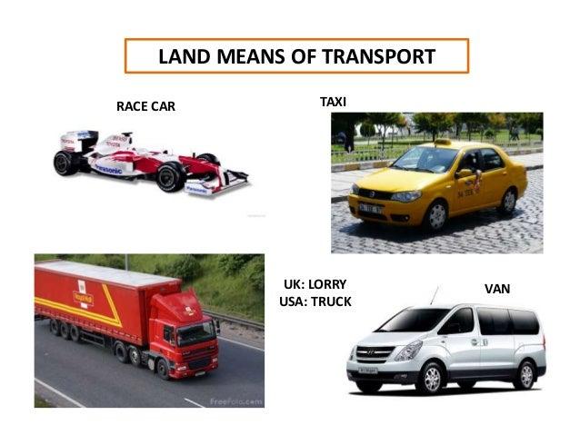 LAND MEANS OF TRANSPORT TAXI VANUK: LORRY USA: TRUCK RACE CAR