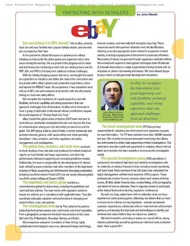 Loss Prevention Magazine January - February http://digital.losspreventionmagazine.com