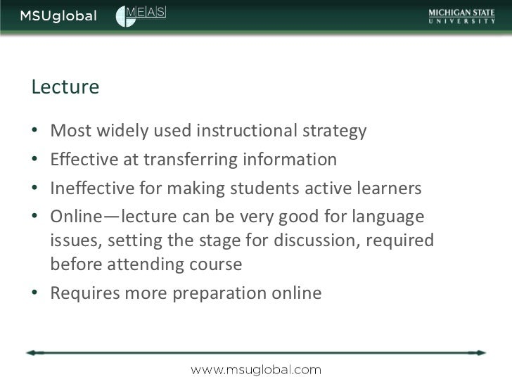 Meas Course On E Learning 3 Effective Online Teaching Strategies