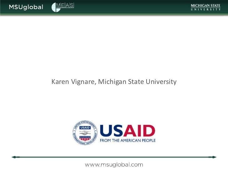 Karen Vignare, Michigan State University