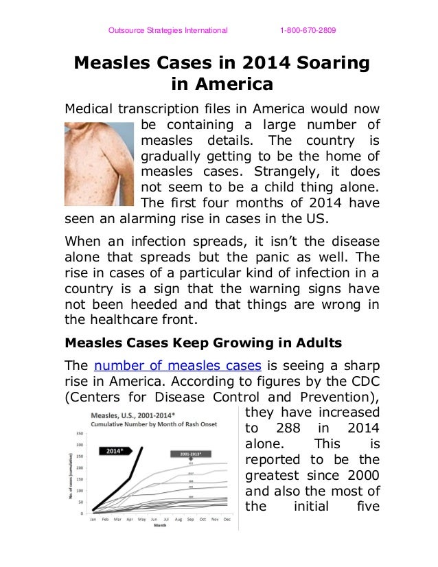 OutsourceStrategiesInternational18006702809 Measles Cases in 2014 Soaring in America Medical ...