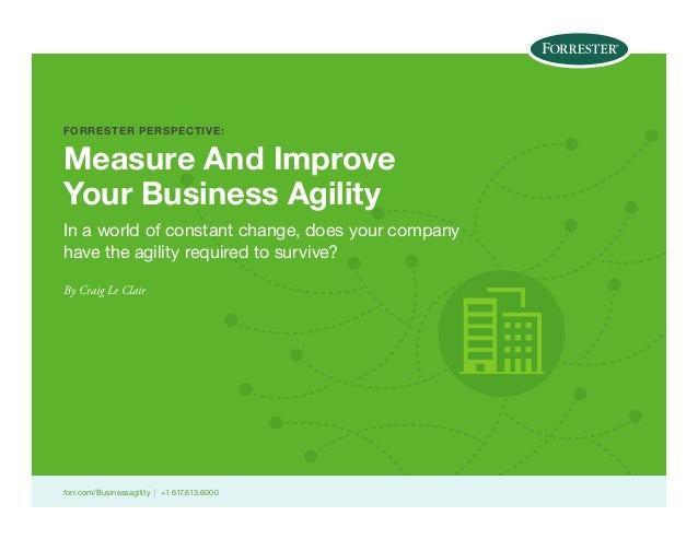 FORRESTER PERSPECTIVE:  Measure And Improve Your Business Agility In a world of constant change, does your company have th...