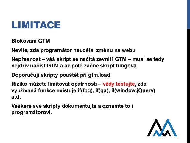JavaScript v GTM - Measure Camp Brno 2017 Slide 3