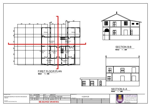 Architecture Museum Malacca Measured Drawing