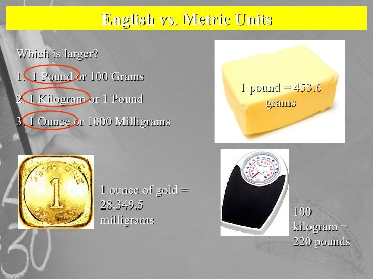 What weighs 1 kilogram?