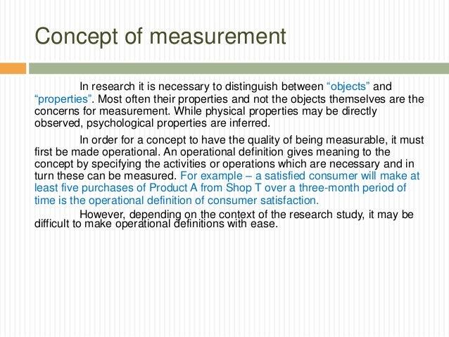 measurement in research