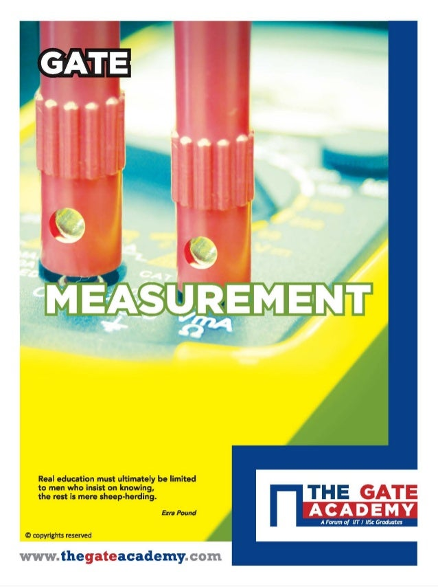 Instrumentation Engineering : Measurement, THE GATE ACADEMY