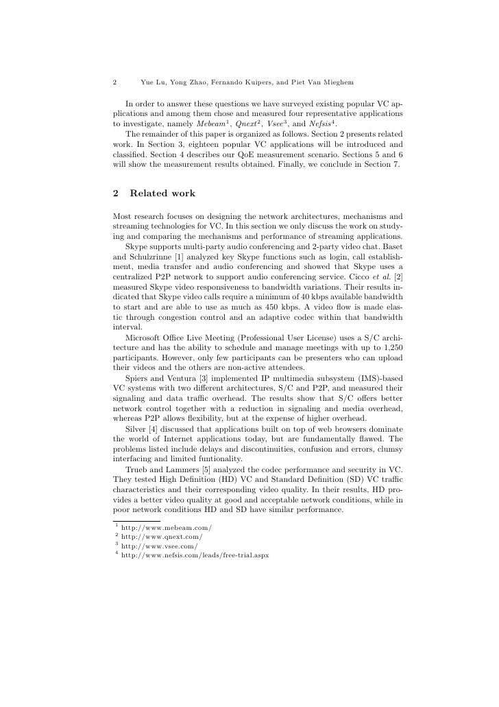 Measurement Study of Multi-party Video Conferencing