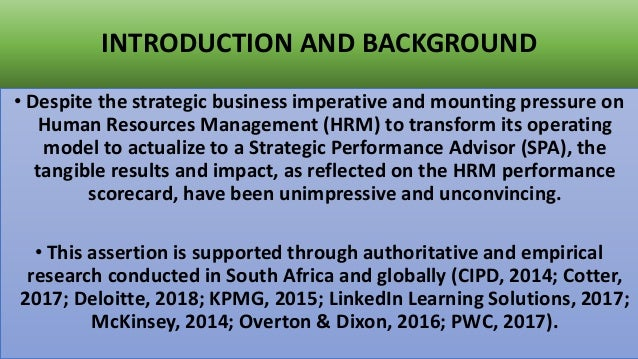 Measurement and diagnosis of the strategic impact and value of selected African HRM_L&D practices: A survey-based study_Research findings  Slide 2