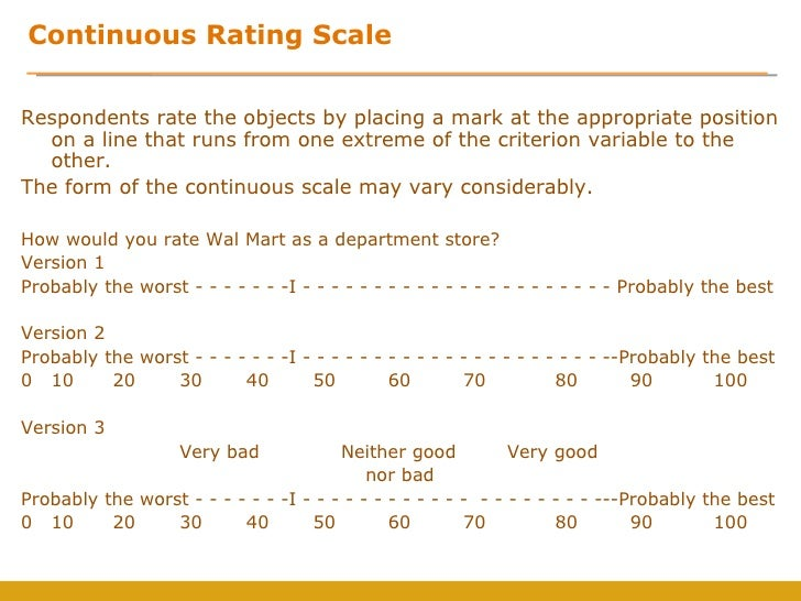 Measurement And Scales