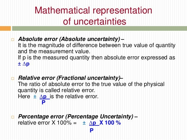 how to find percentage uncertainty in physics