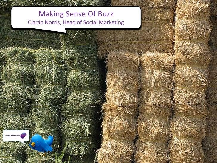 Making Sense Of Buzz Ciarán Norris, Head of Social Marketing