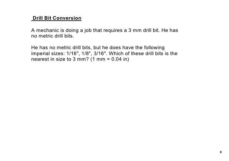 Measurement Conversions Marth13th