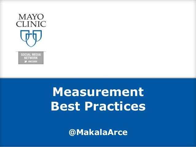 Measurement Best Practices @MakalaArce