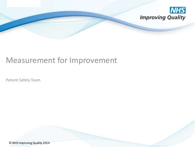 © NHS Improving Quality 2014© NHS Improving Quality 2014 Measurement for Improvement Patient Safety Team