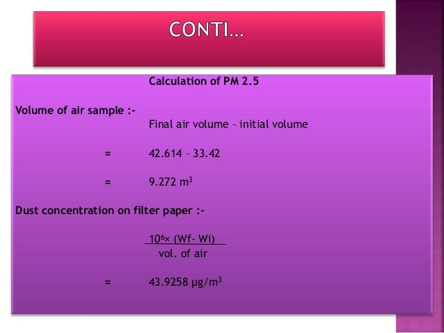CONCENTRATION OF SO2 Table for absorbance and concentration of sample standard solution Absorbance(x) Concentration(y) 0.1...