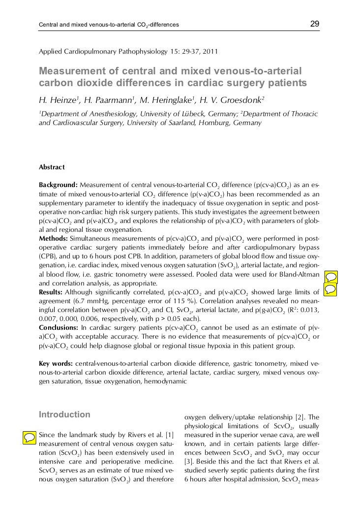 Central and mixed venous-to-arterial CO2-differences                                               29Applied Cardiopulmona...