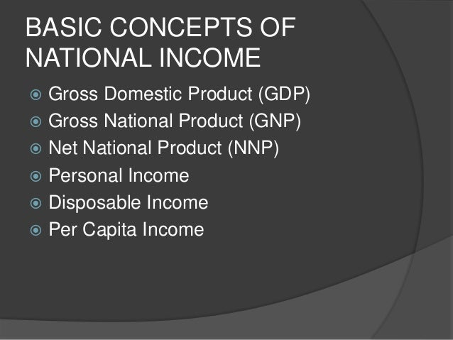Measures of national income and output