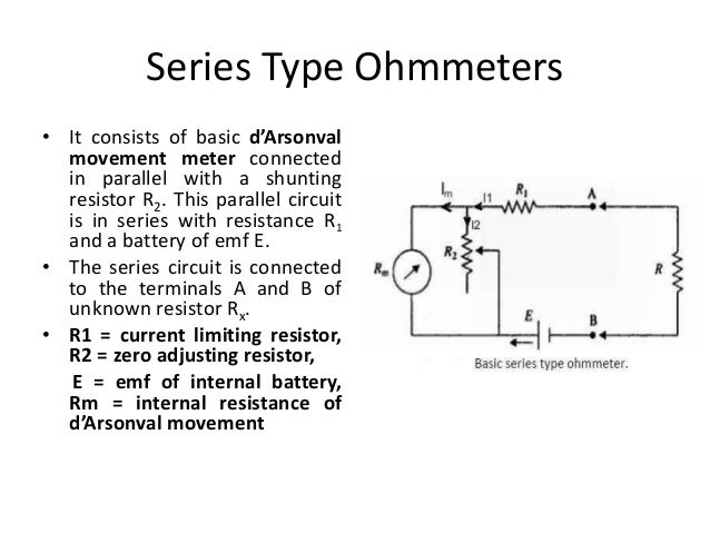 Finding Resistance In Circuit Ohmmeter : Measurement of resistance