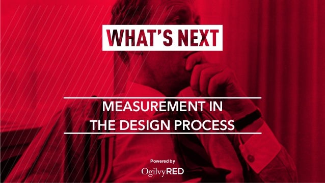 Powered by MEASUREMENT IN THE DESIGN PROCESS