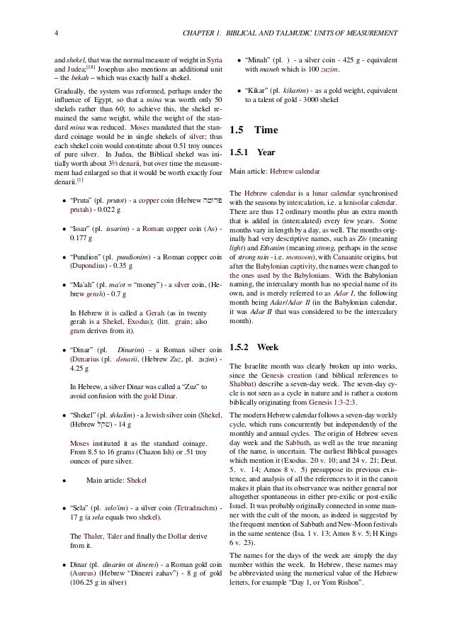 Measurements In The Bible Biblical Units Of Measurements And Chronolo