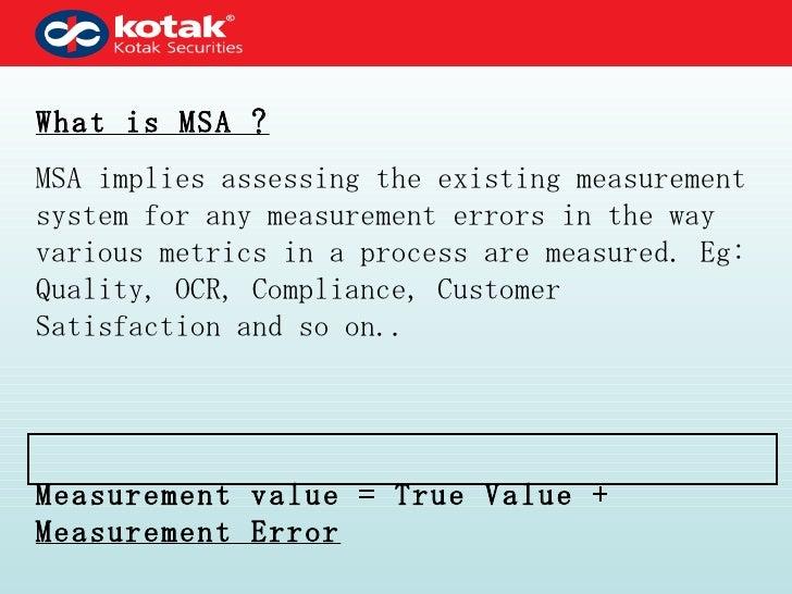 Measurement system analysis Slide 2