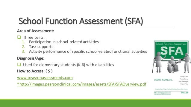 measurement tools for school aged therapy 2015 pdf rh slideshare net Alberta Motor Assessment school function assessment user manual