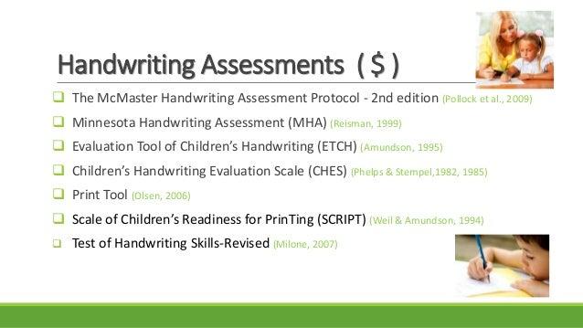 McMaster Handwriting Assessment Protocol